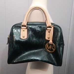 Michael Kors Signature Satchel Green Medium